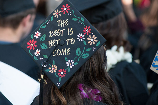 """Graduate with a cap that says """"The best is yet to come"""""""