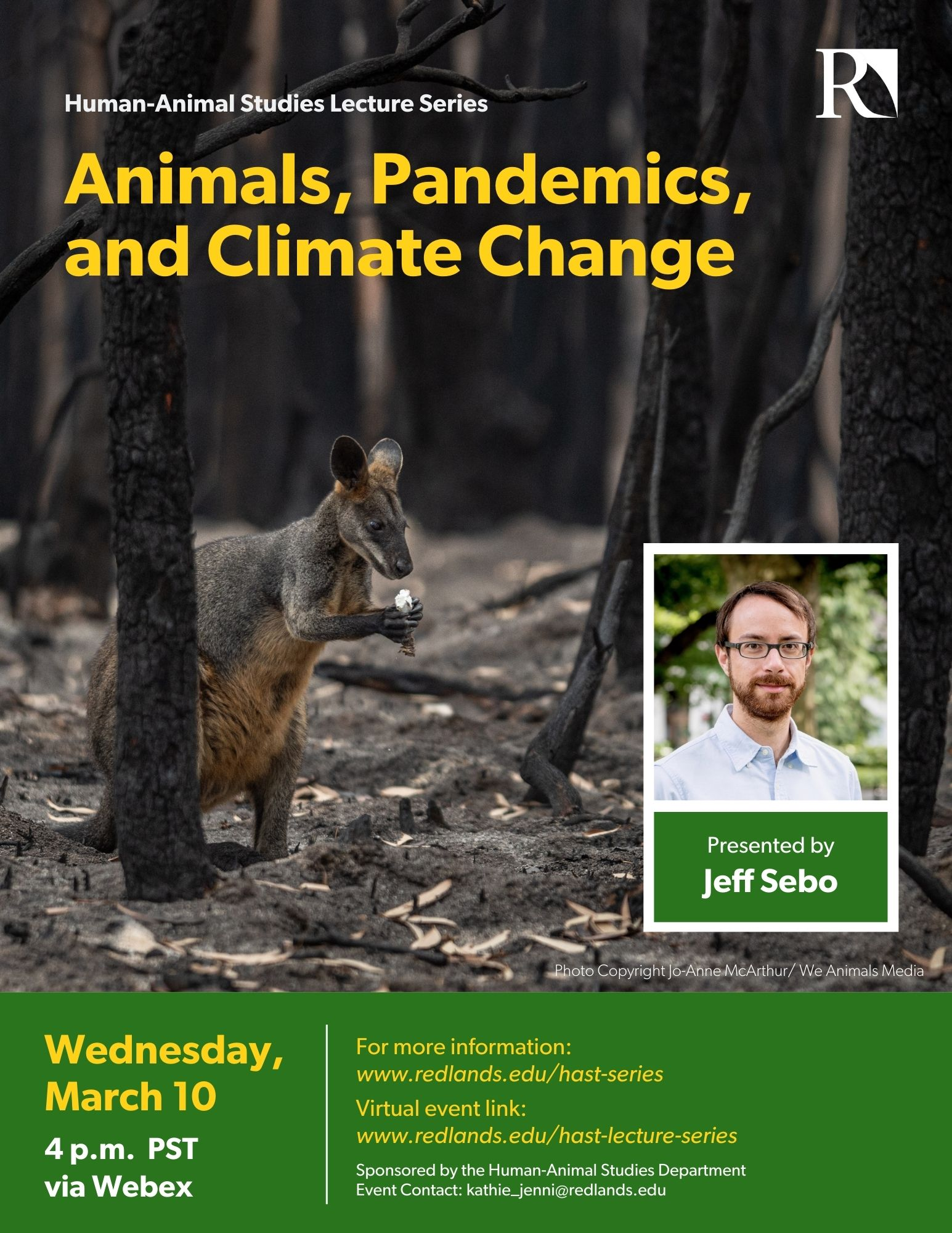Animals, Pandemics and Climate Change Lecture Poster