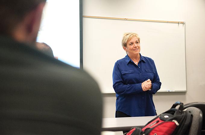Allison Fraiberg hosting a workshop