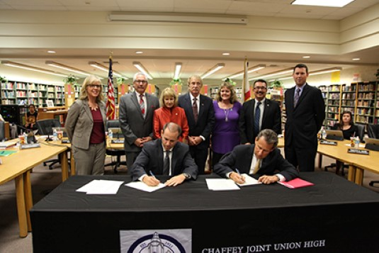 UR & Chaffey District signing