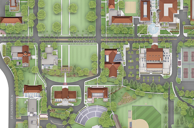 University Of Redlands Campus Map New interactive map gives incoming and prospective families a