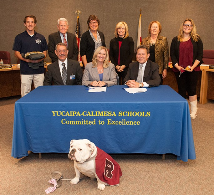 university of redlands partnership with yucaipa-calimesa school district