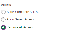remove all access