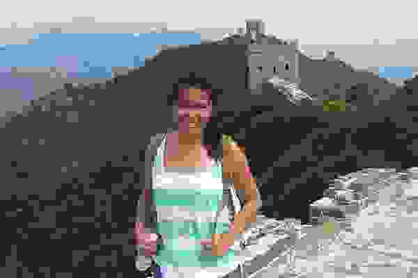 Student at the Great Wall of China