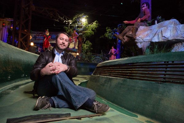 Bill Butler '08, the award-winning creative design director at Garner Holt Productions and former Disney Imagineer, lives his dream building theme park attractions.