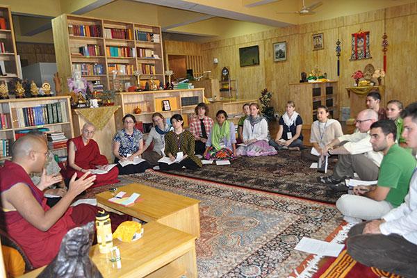 Monk teaches a class